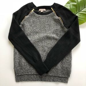 Banana Republic • Two Tone Zipper Sweater